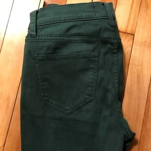 Madewell Army Green Skinny Jean